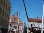 Montaż wieżyczki na dachu Kościoła św. Stanisława