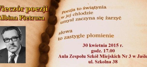 Zaproszenie na wieczór poezji Albina Pietrusa