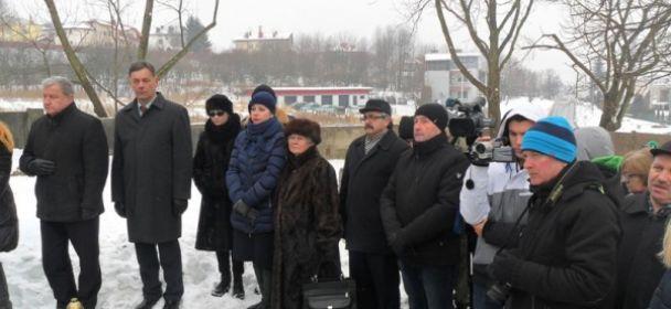 Przedstawiciele SMJiRJ na obchodach Dnia Pamięci o Ofiarach Holokaustu